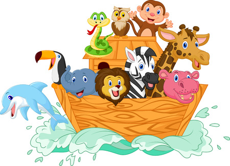dolphin silhouette: Noah s Ark cartoon