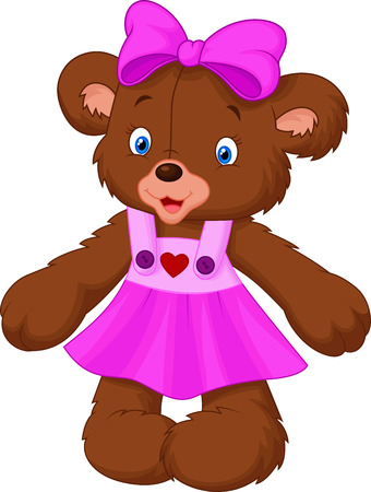 Funny female bear cartoon Vector