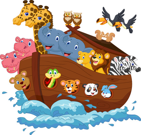 Noah s Ark cartoon Vector