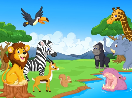 cartoon animal: Wild Animal cartoon