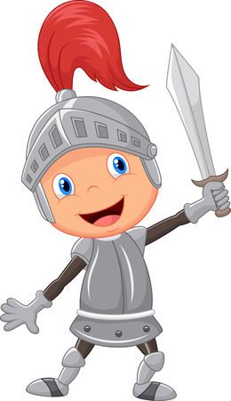 Cartoon knight boy Ilustracja