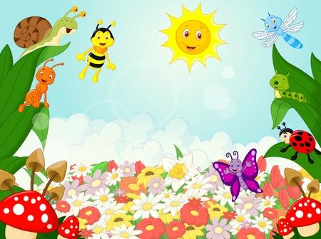 abeja: Pequeños animales de dibujos animados