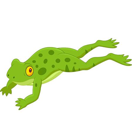 Netter Frosch springt Standard-Bild - 30337561