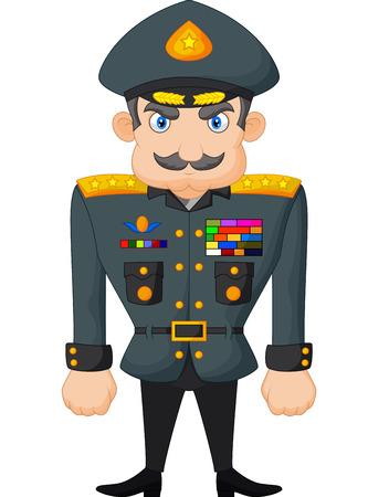 軍の一般的なを漫画します。  イラスト・ベクター素材