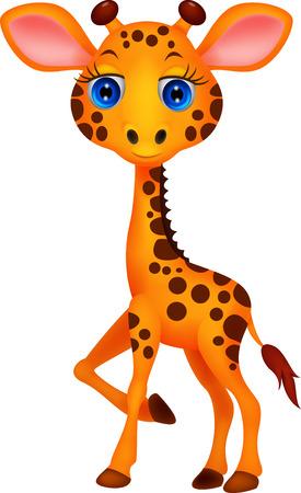 baby animal cartoon: Cute baby giraffe cartoon