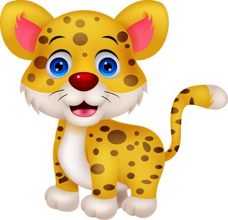 Funny leopard cartoon Vector