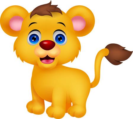 Cute Baby Löwekarikatur Standard-Bild - 30337834