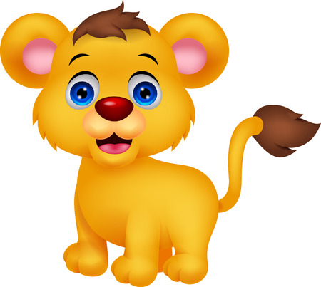 Dessin animé mignon bébé lion