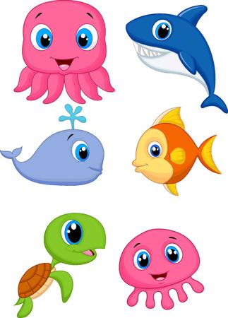 Leuke cartoon zeedieren