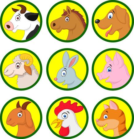 animal: Farm animal cartoon collection Illustration