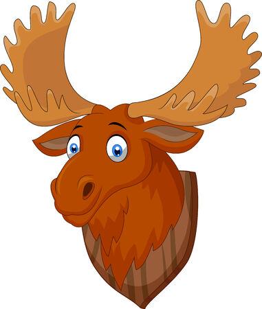 taxidermy: Moose head cartoon Illustration