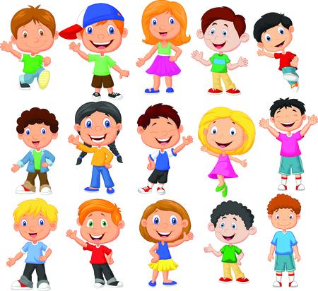 Glückliches Kind Cartoon-Sammlung Standard-Bild - 30338013