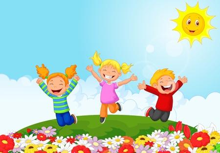 Happy kid cartoon