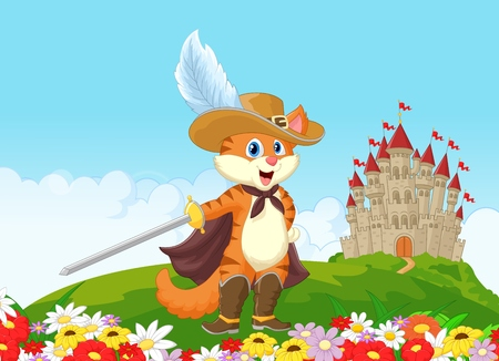 fable: Cat with castle background