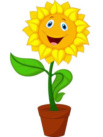 Sunflower cartoon 일러스트