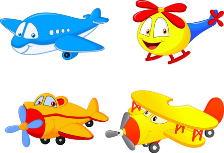 Cartoon planes Vector