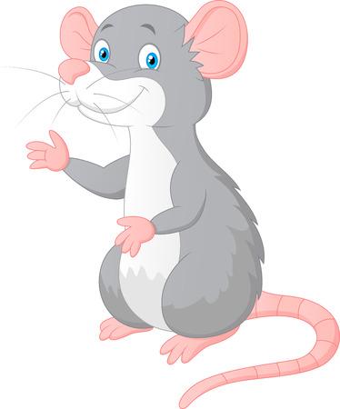 mouse cartoon: Cute mouse cartoon presenting Illustration