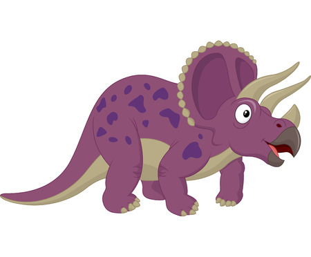 triceratops: Triceratops cartoon Illustration