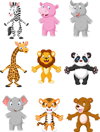 Animal cartoon posing Vector