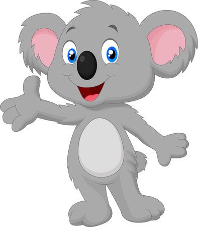Cute koala cartoon posing Vector