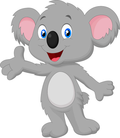 Cute koala cartoon posing Illustration