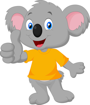 Cute koala giving thumb up Illustration