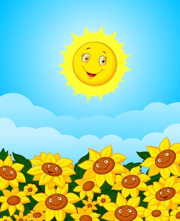 sun flower: Sun flower field