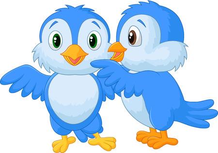 aves caricatura: Susurrando pájaro Vectores