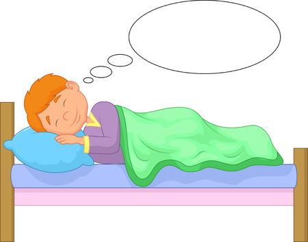 Cartoon boy sleeping Illustration