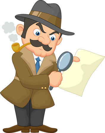 Cartoon Detective Man Vector