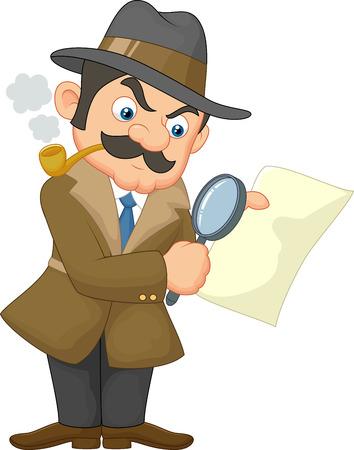 Cartoon Detective Man Vector