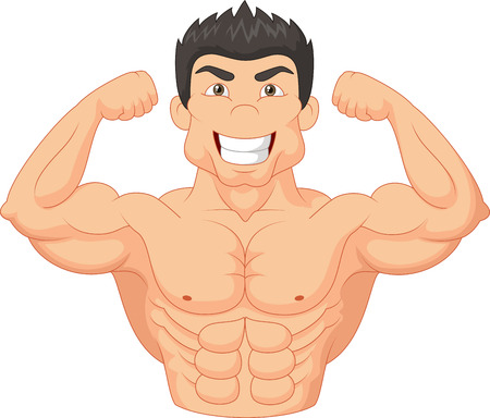 Cartoon Bodybuilder Vector
