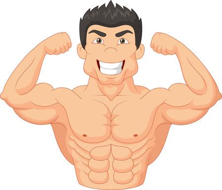 Cartoon Bodybuilder Illustration