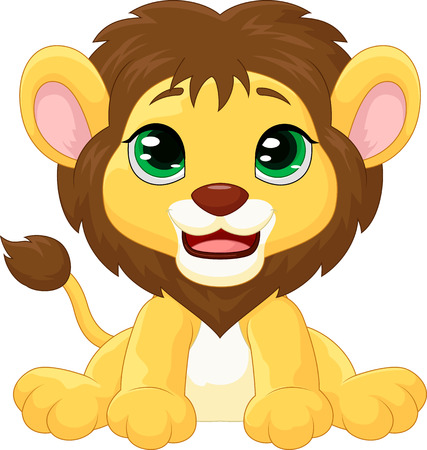 cute graphic: Cute lion cartoon Illustration