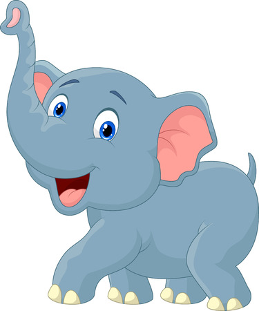 baby elephant: Elephant cartoon