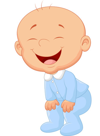 Baby boy laughing Vector