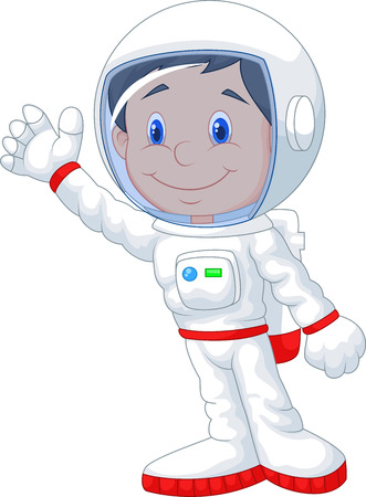 gesturing: Astronaut cartoon