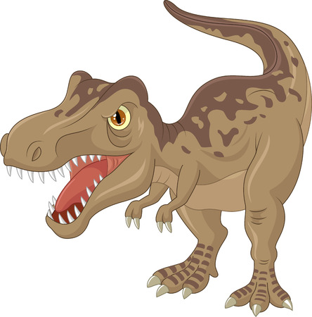 dinosaur cute: Angry tyrannosaurus cartoon Illustration