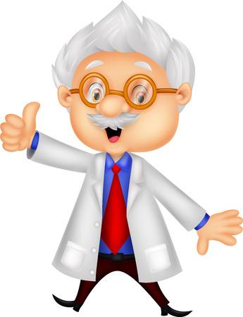 Professor cartoon giving thumb up