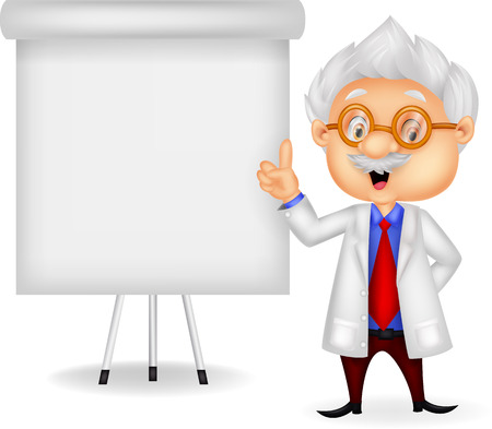 Professor teaching Illustration
