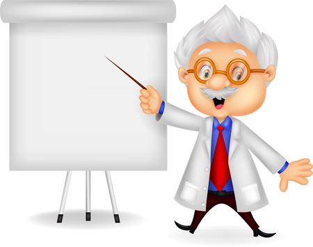 Professor teaching Ilustracja