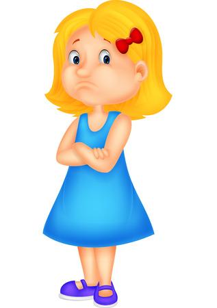 fille triste: Petite fille en col�re