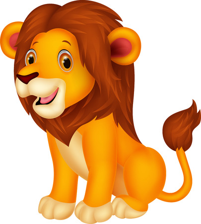 safari animal: Cute lion cartoon Illustration