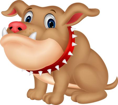 beware of the dog: Cute bulldog cartoon