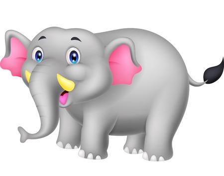 child laughing: Elephant cartoon