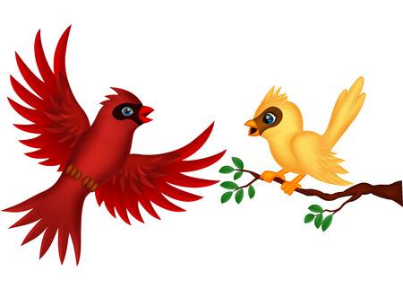 comic baby: Bird cartoon Illustration