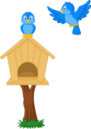 family moving house: Birds and bird houses
