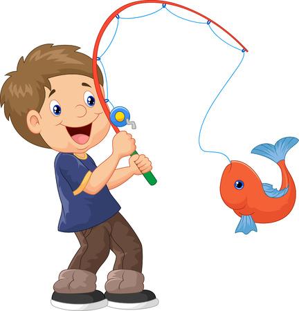 漫画少年釣りのイラスト