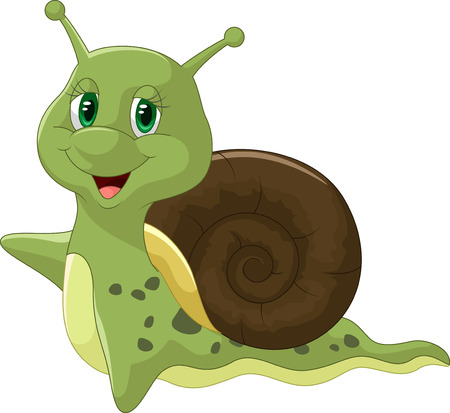 cartoon snail: Cute snail cartoon Illustration