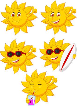 Sun cartoon character Vector